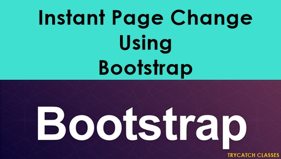 Instant Page Change Using Bootstrap Tabs