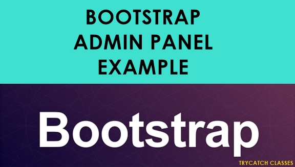 Bootstrap Admin Panel Example