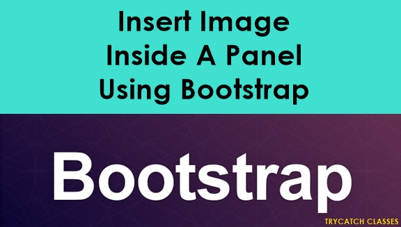 Insert Image Inside A Panel Using Bootstrap