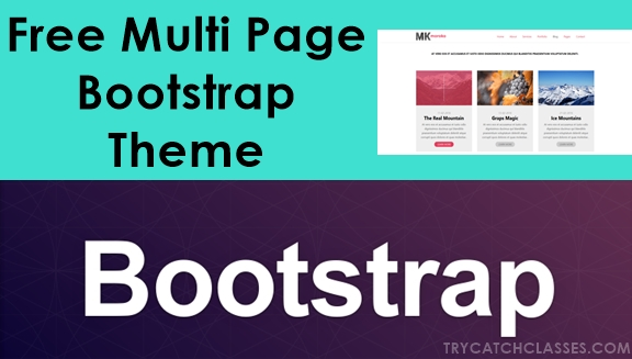Free Multi Page Bootstrap Template Project