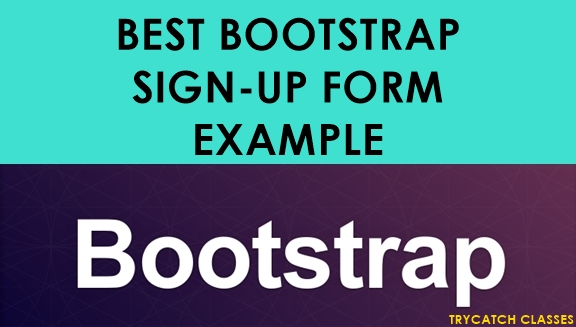 Best-bootstrap-sign-up-form-example