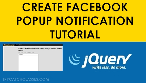 How To Make Facebook Like Notification Popup