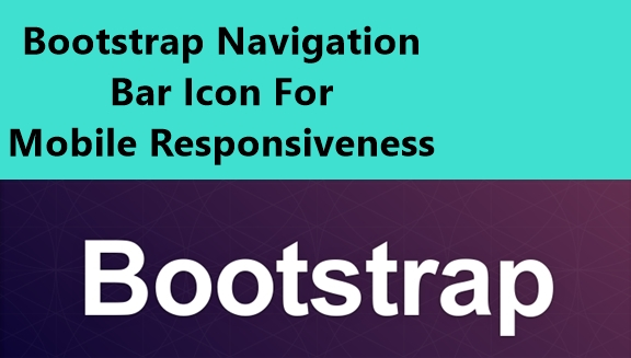 Bootstrap Navigation Bar With Animated Icons