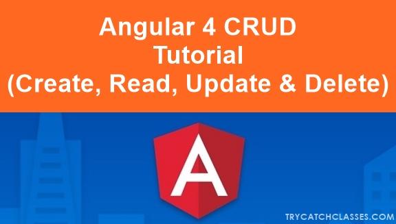 Angular Create Read Update Delete Tutorial