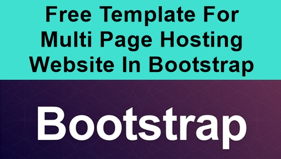 Free Template For Multi Page Hosting Website In Bootstrap