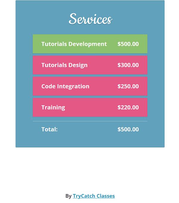 Creative AngularJS Order Form Example