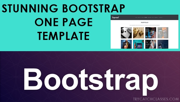 Stunning Bootstrap One Page Template Free Project