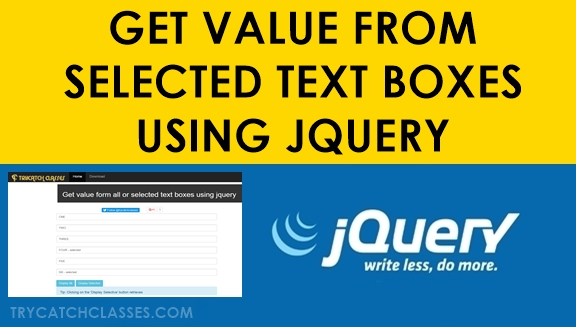 Get Value From Selected Text Boxes Using Jquery