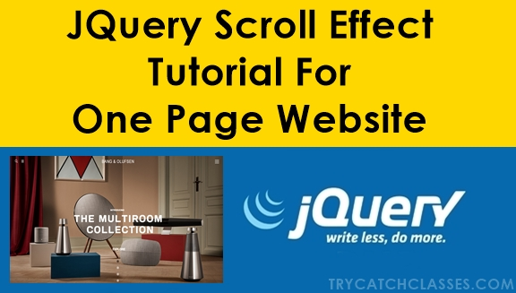 JQuery Scroll Effect Tutorial For One Page Website