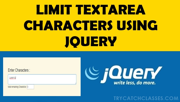 Limit Textarea Characters Using JQUERY