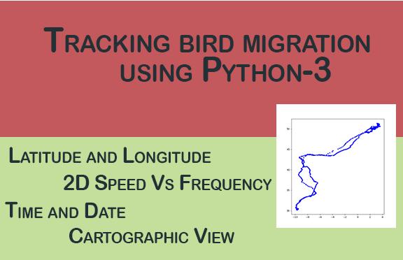 Tracking bird migration using Python-3