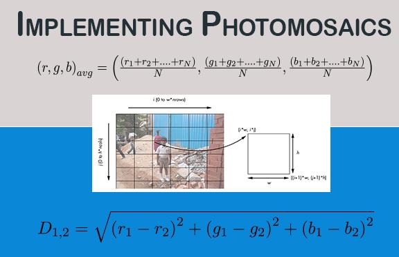 Implementing Photomosaics