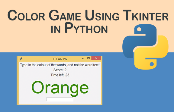 Color game using Tkinter in Python